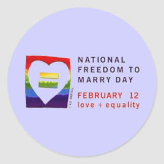 freedom2marry classic round sticker