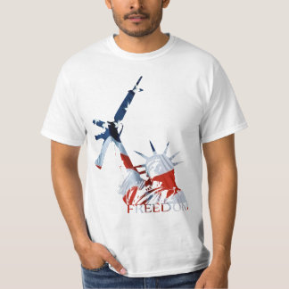 Freedom - 2nd Amendment in Red, White, & Blue T-Shirt