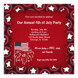Freedom 4th Of July Card at Zazzle