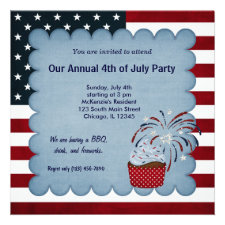 Freedom 4th of July Custom Announcements