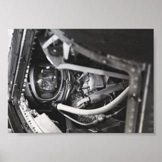 Freedom 7 astronaut awaits liftoff poster