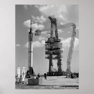 Freedom 7 (Mercury Redstone 3) Launch Preparations Poster