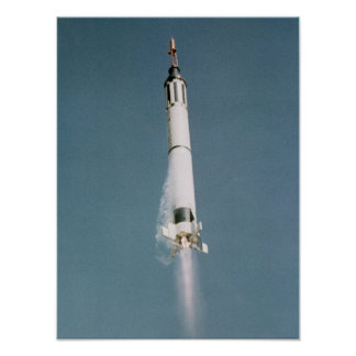 Freedom 7 (Mercury Redstone 3) Launch Print