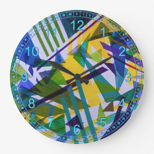 Freedom – Abstract Journey of Liberties Large Clock