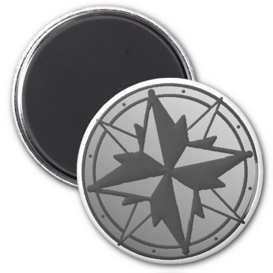 Freedom and Adventure Metal Compass Magnet