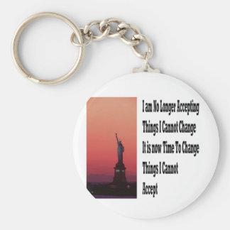 Freedom and liberty keychain