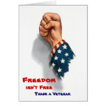 Freedom and Veterans Patriotic Card