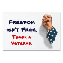 Freedom and Veterans Patriotic Yard Sign