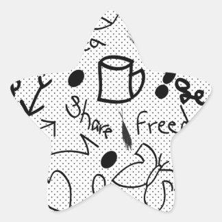 freedom art star sticker