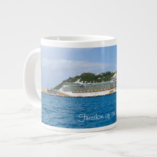 Freedom at St. Martin Custom Large Coffee Mug