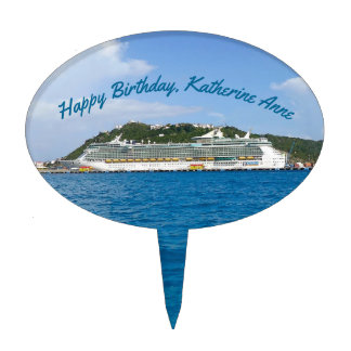 Freedom at St. Martin Personalized Cake Topper