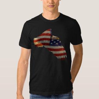 FREEDOM BALD EAGLE & US FLAG Mens Apparel Shirt