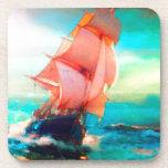 Freedom Bay, Ocean Sailing, Sunrise Beverage Coaster