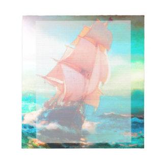 Freedom Bay, Ocean Sailing, Sunrise Notepad