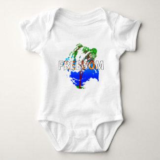 Freedom! Bear Design Baby Bodysuit