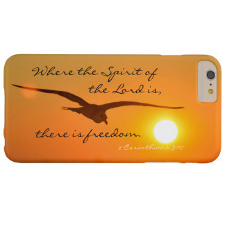 Freedom Bible Verse, Bird Flying at Sunset Barely There iPhone 6 Plus Case