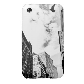 Freedom - Bird Flying Near New York Skyscrapers Case-Mate iPhone 3 Cases