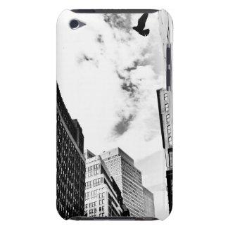 Freedom - Bird Flying Near New York Skyscrapers iPod Case-Mate Case