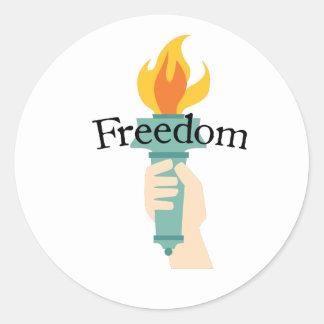 Freedom Classic Round Sticker