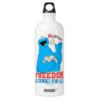Freedom & Cookies For All! Aluminum Water Bottle