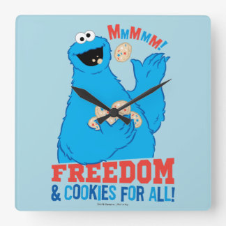 Freedom & Cookies For All! Square Wall Clock