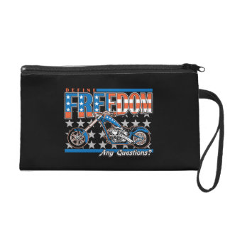 Freedom Cycle American Flag Paint Motorcycle Wristlet Purse