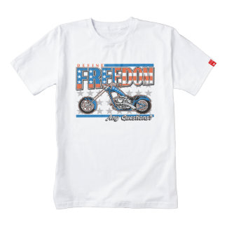 Freedom Cycle American Flag Paint Motorcycle Zazzle HEART T-Shirt