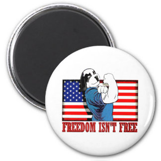 "Freedom Dawg Freedom Isn""t Free 2 Inch Round Magnet"