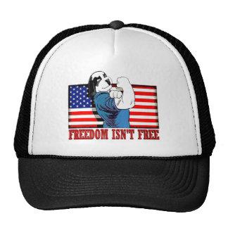 "Freedom Dawg Freedom Isn""t Free Trucker Hat"