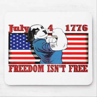 Freedom Dawg July 4 Mouse Pad