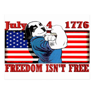 Freedom Dawg July 4 Postcard