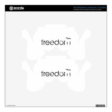 Beach Themed Freedom Decal For PS3 Controller