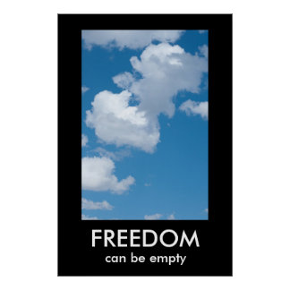 FREEDOM Demotivational poster template