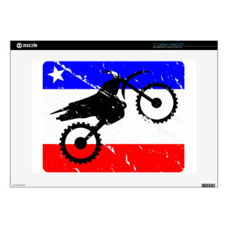 "Freedom Dirt-Bike ELECTRONICS Decals For 15"" Laptops"