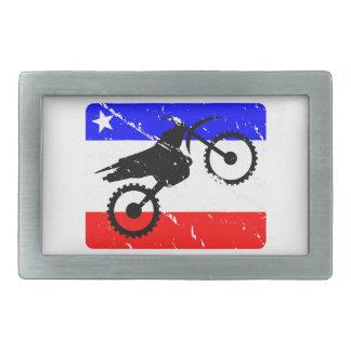 Freedom Dirt-Bike FLAIR Rectangular Belt Buckle