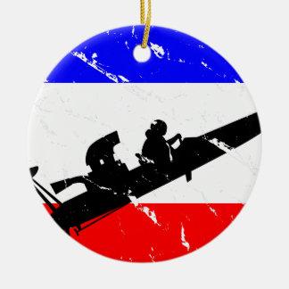 Freedom Drag-Boat FLAIR Ceramic Ornament