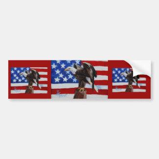 Freedom Eagle aceo Bumper Sticker