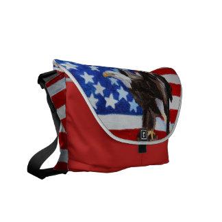 Freedom Eagle aceo Messenger Bag