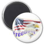 Freedom Eagle American Flag Fridge Magnets