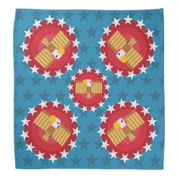 USA Themed Freedom Eagle (Blue) - Bandana