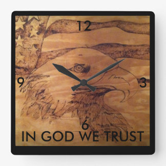 "Freedom Eagle Clock "" In God We Trust"""