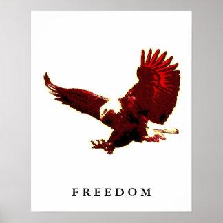 Freedom Eagle Motivational Confidence Art Poster