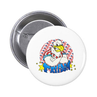 Freedom Eagle Pinback Button