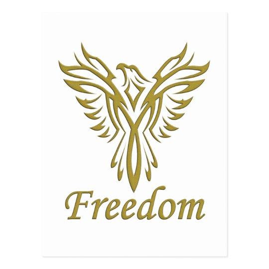 Freedom Eagle postcard, customize Postcard
