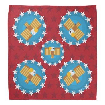 USA Themed Freedom Eagle (Red) - Bandana
