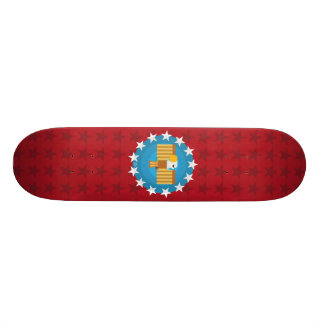 Freedom Eagle (Red) - Skateboard Deck