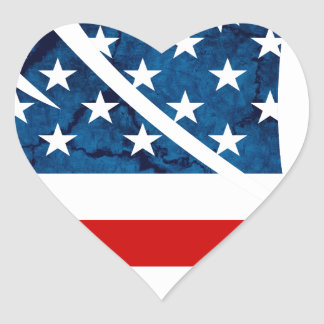 Freedom Eagle USA Heart Sticker