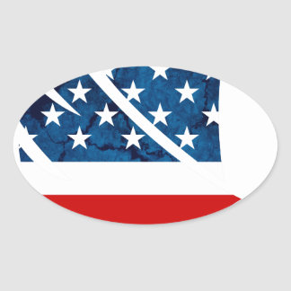 Freedom Eagle USA Oval Sticker