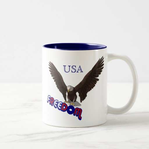 Freedom Eagle USA Patriotic Coffee Mug