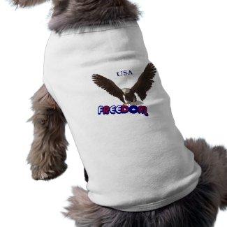 Freedom Eagle USA Patriotic Dog T-Shirt petshirt
